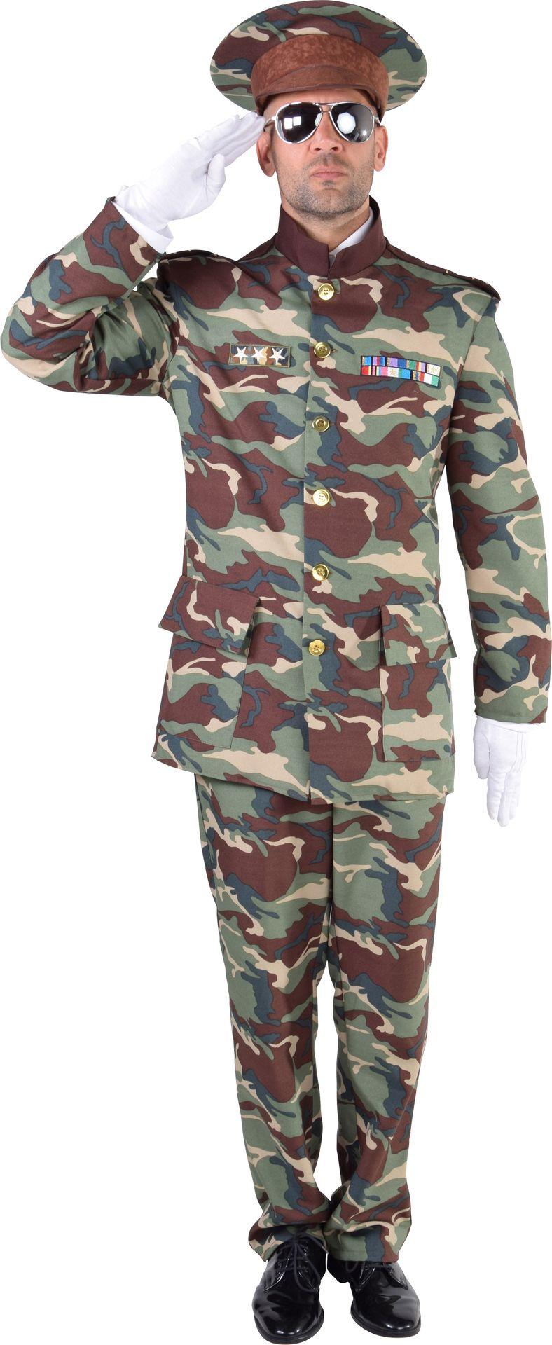 Camouflage officier kostuum heren
