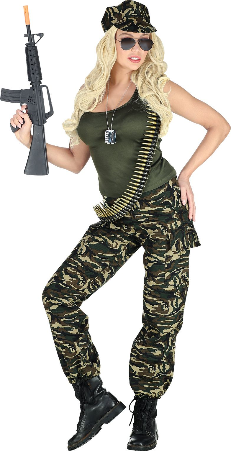 Camouflage outfit dames