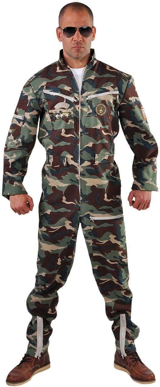 Camouflage overall gevechts piloot heren