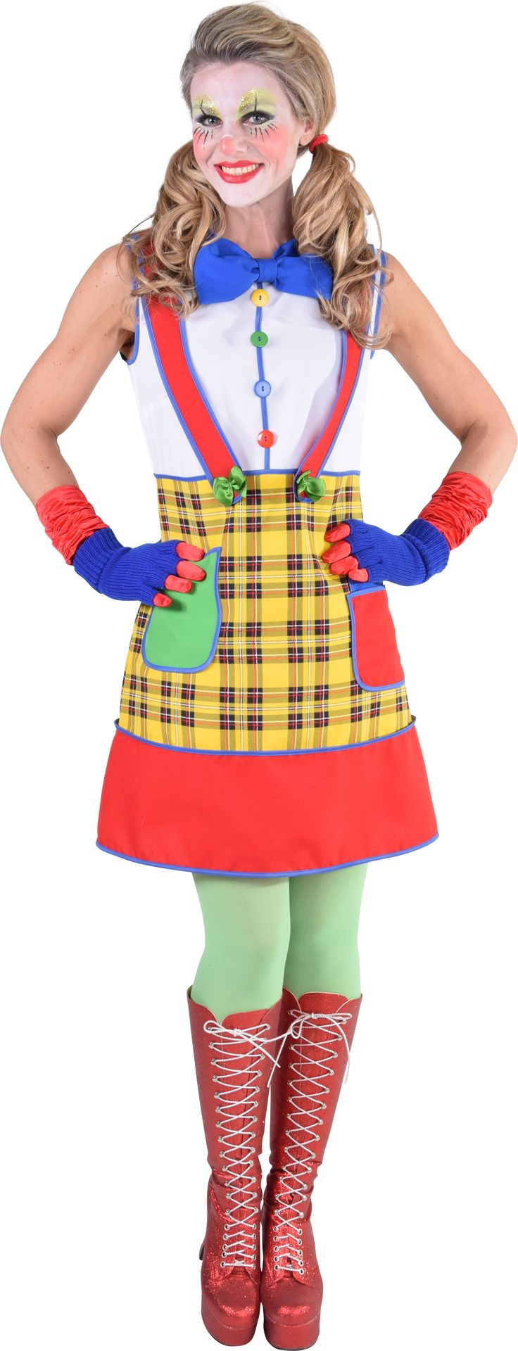 Carnaval clowns jurk vrouwen