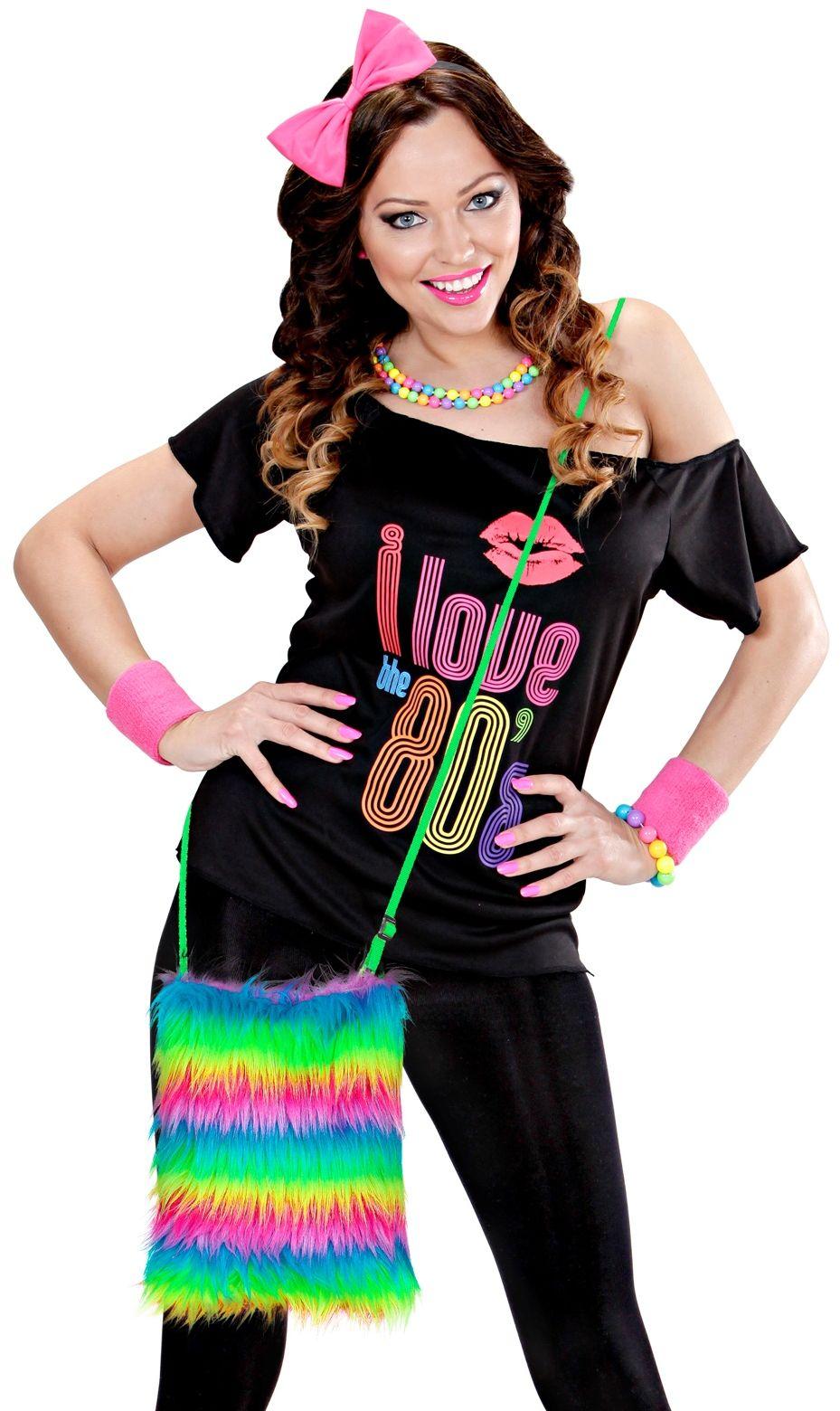 Carnaval schoudertas regenboog