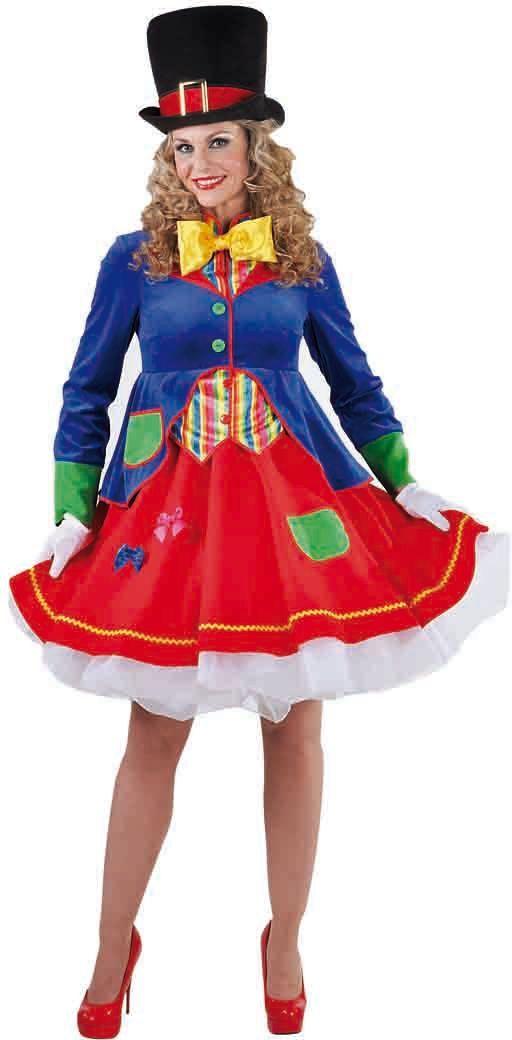 Carnavals clownsjurk dames