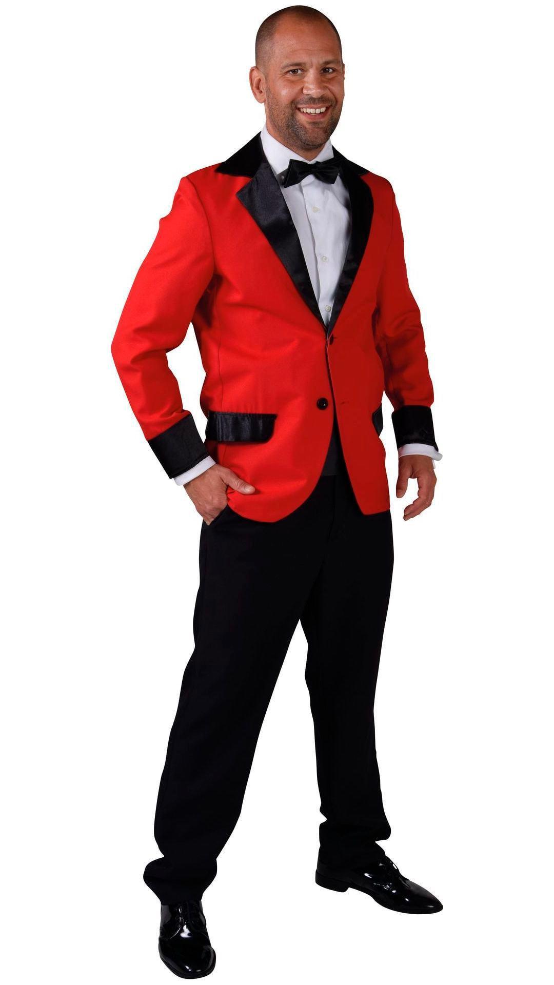 Carnavals colbert rood mannen