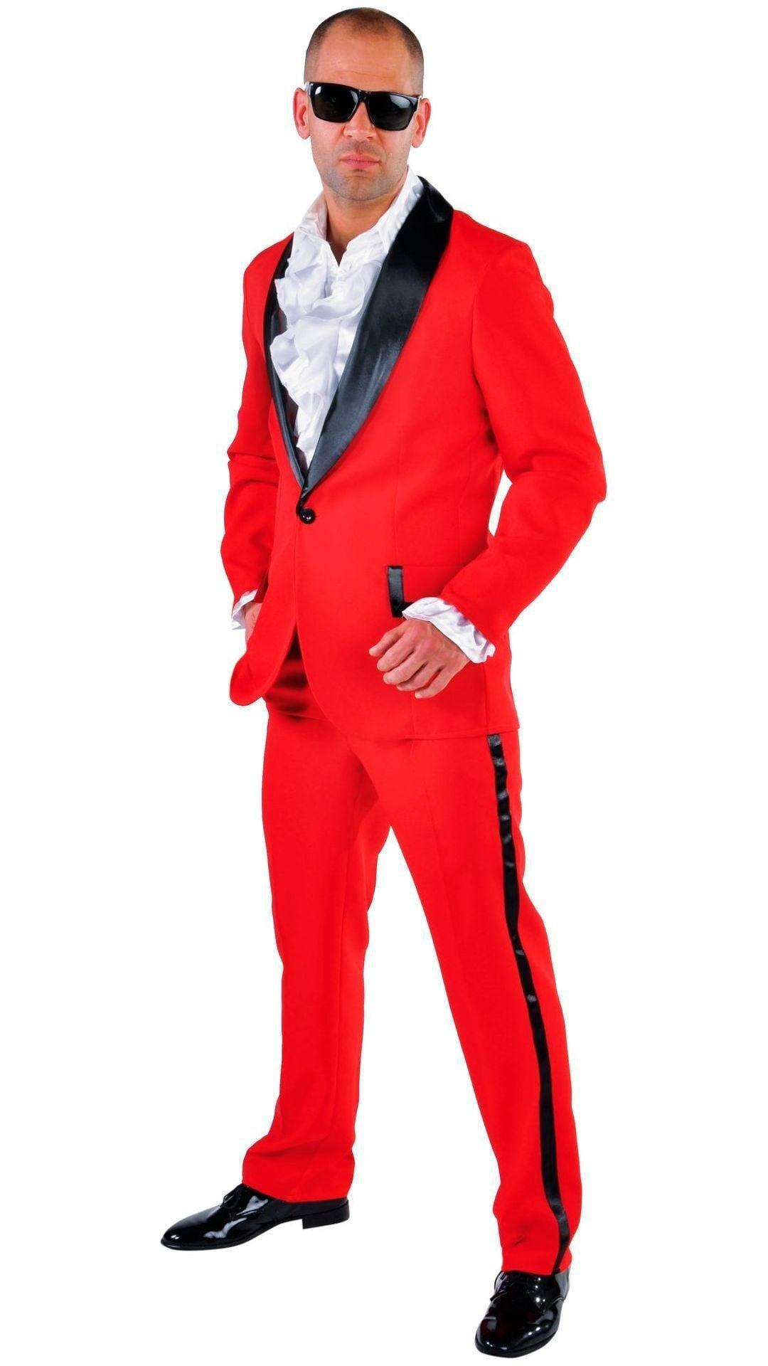 Carnavals smoking rood mannen