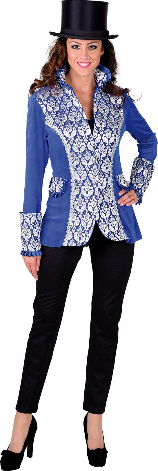 Carnavalsjas dames blauw