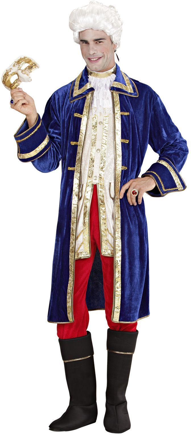 Casanova kostuum blauw