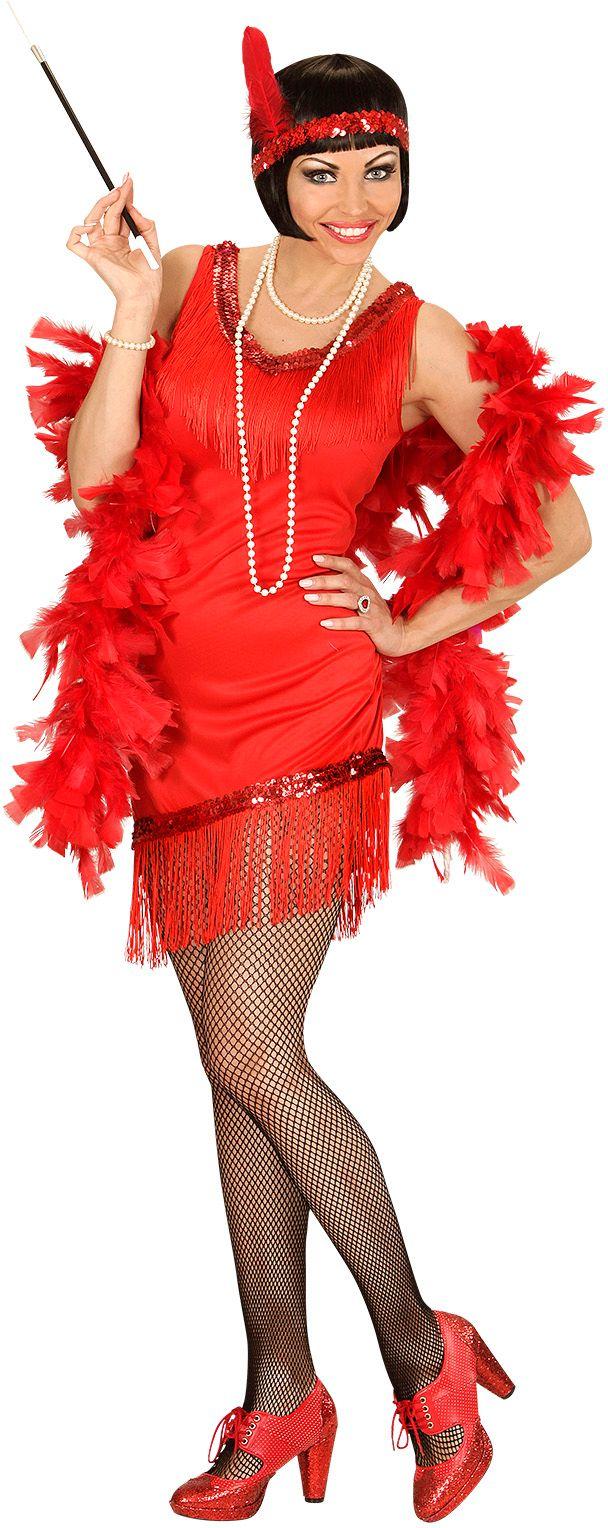 Charleston flapper jurk rood