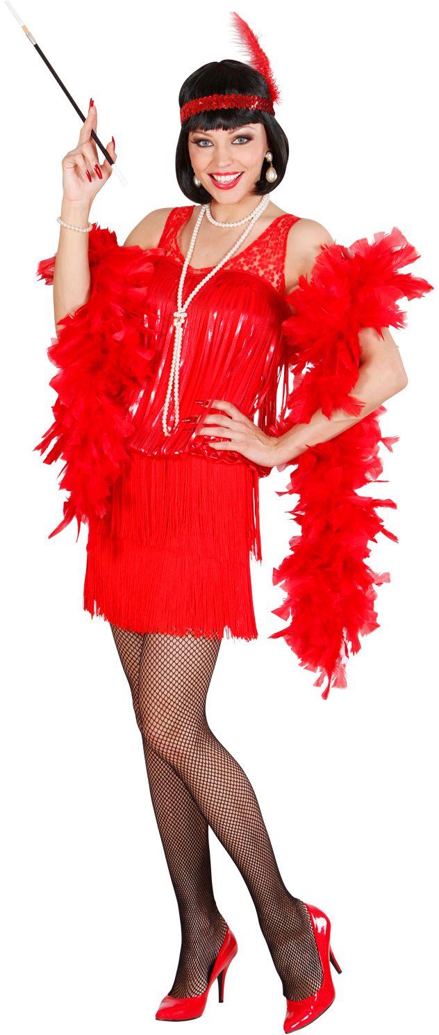 Charleston kleding rood