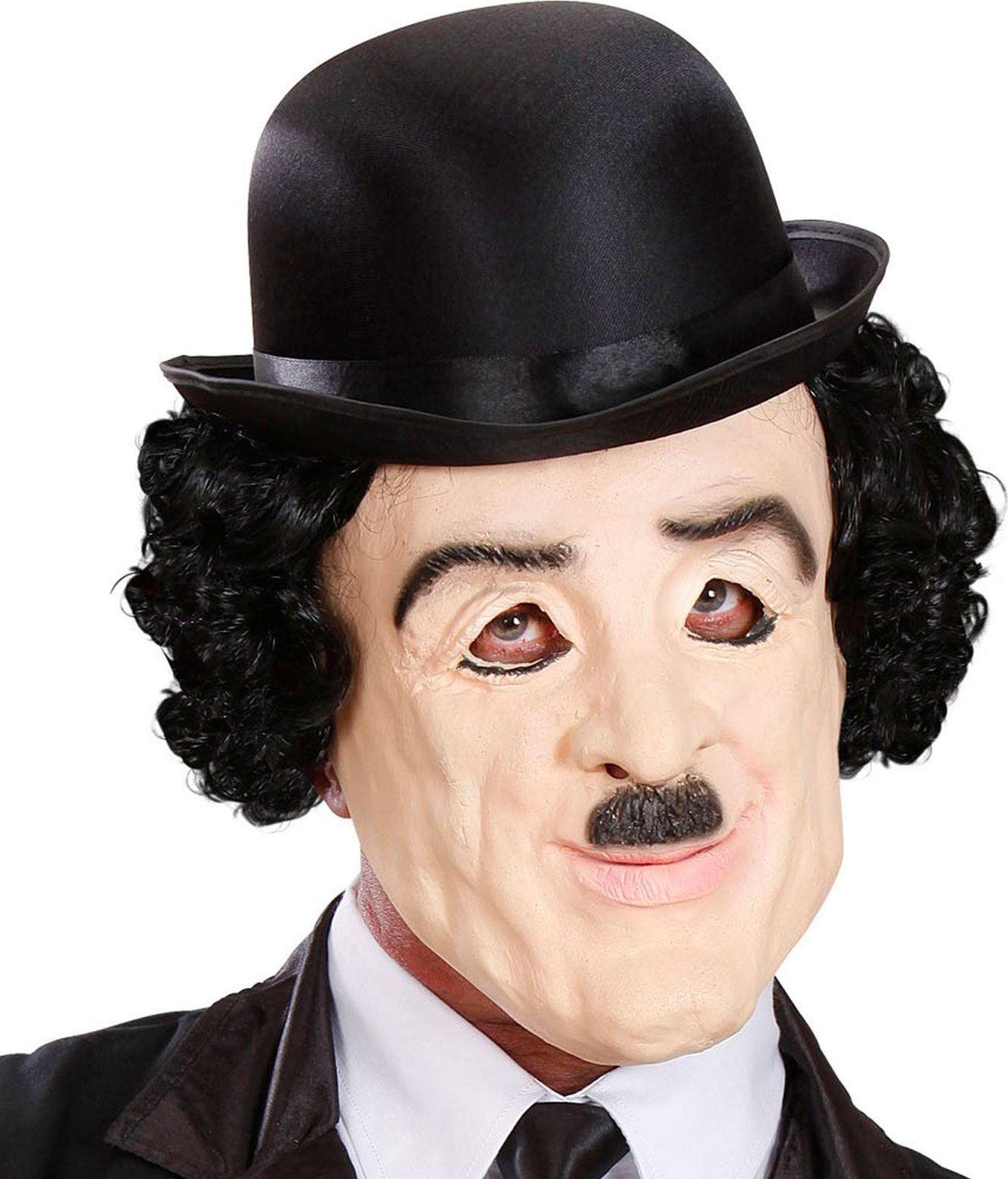 Charlie Chaplin masker met pruik