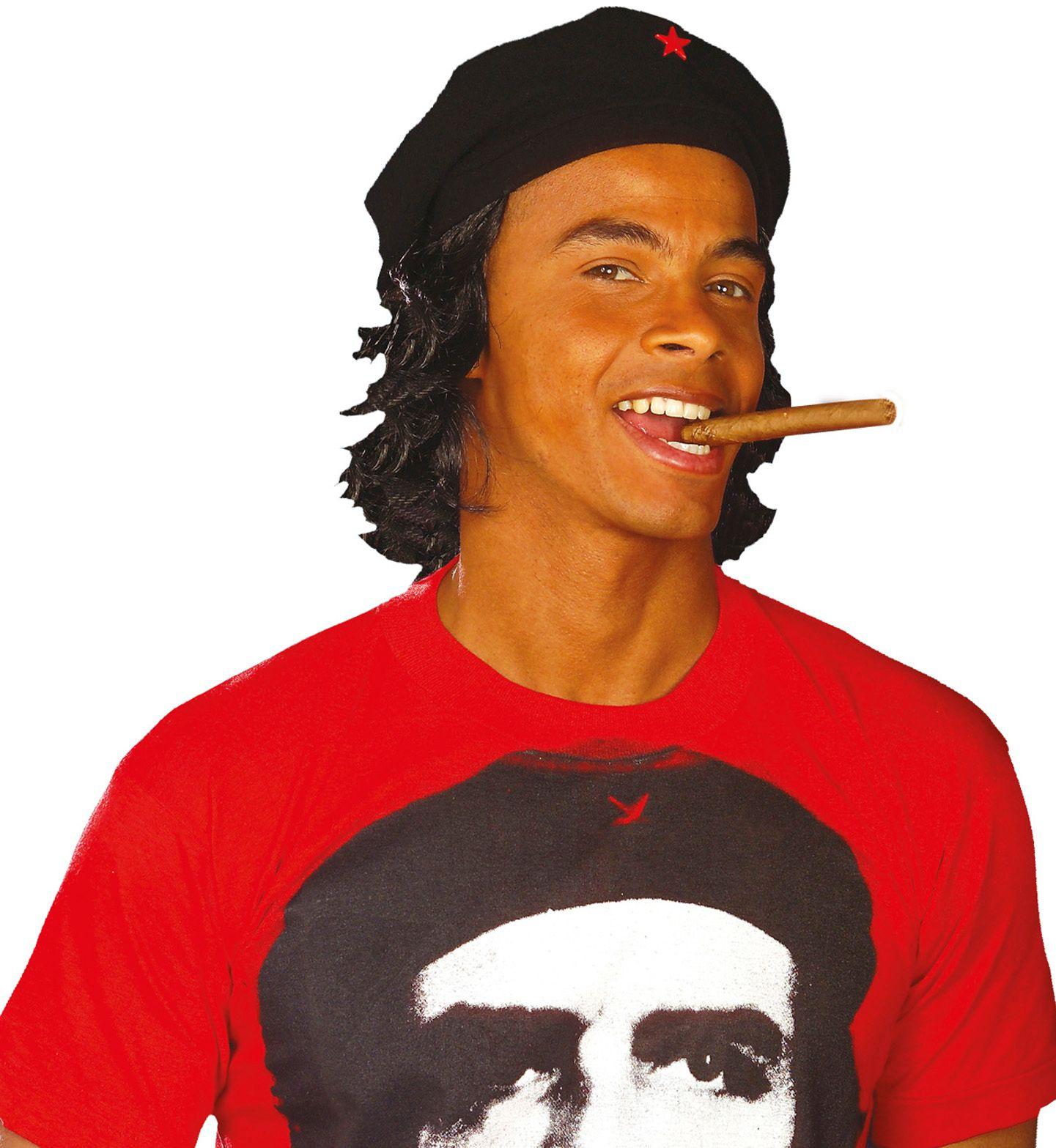 Che Guevara muts met pruik