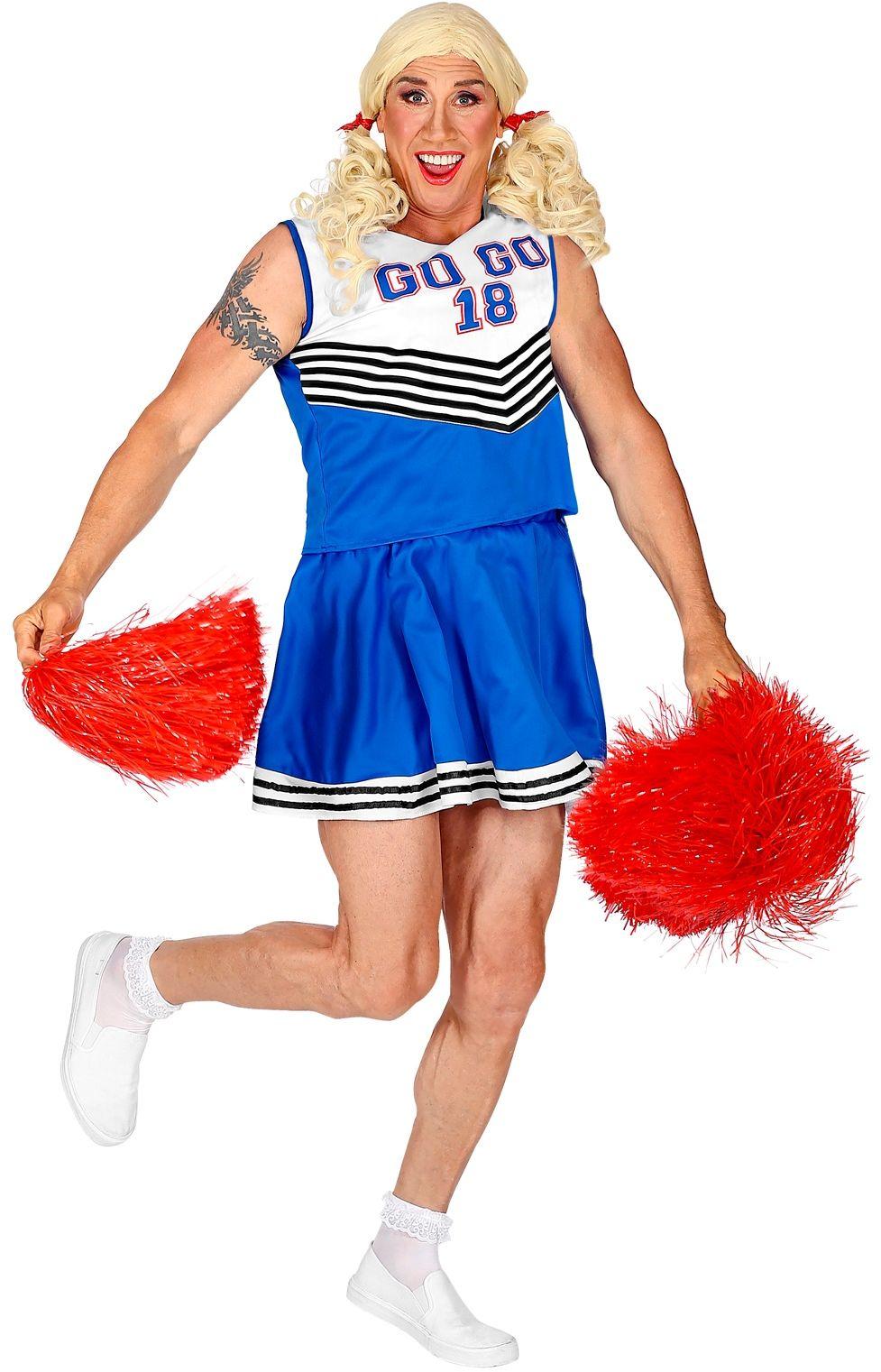 Cheerleader travestie kostuum