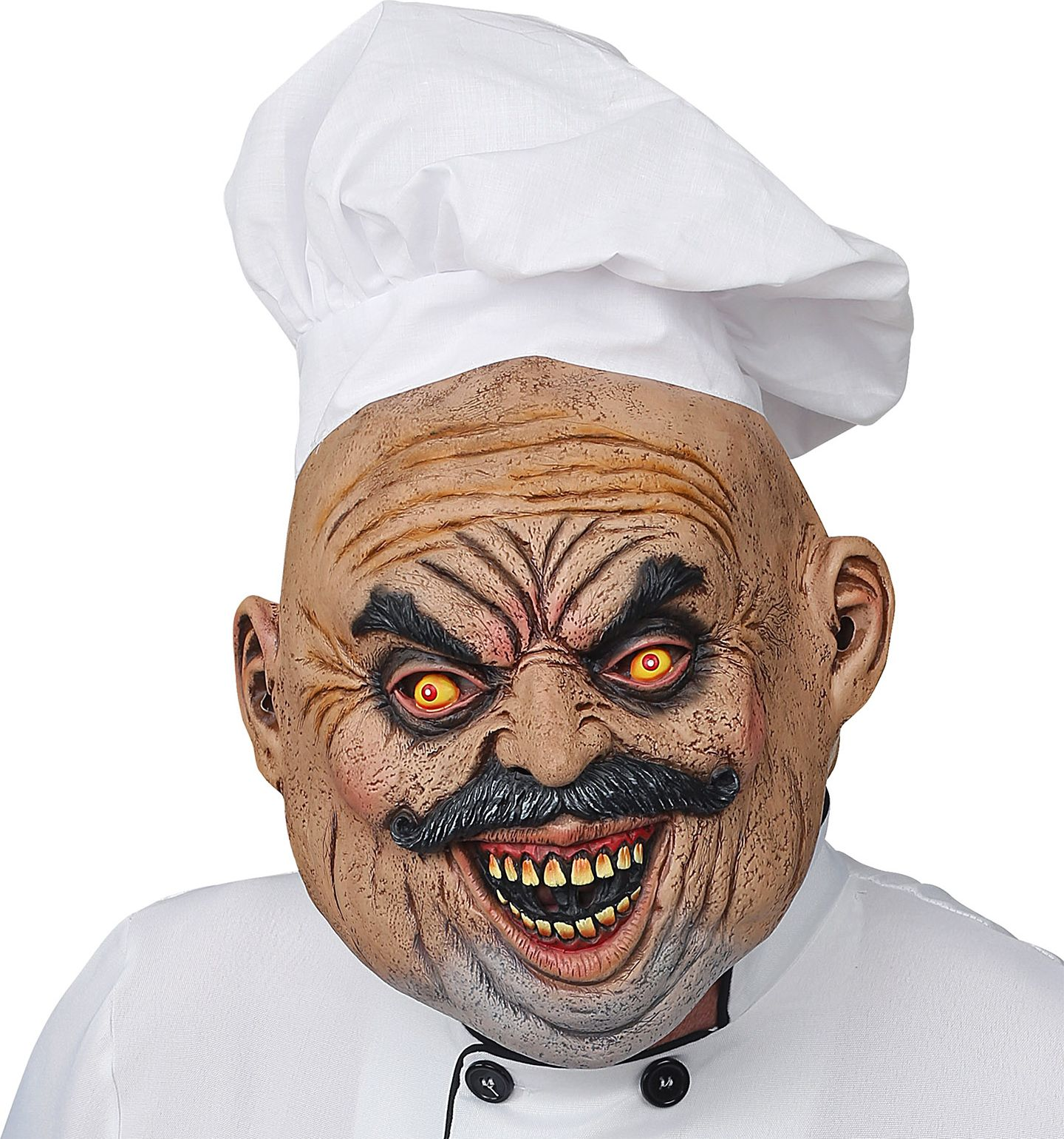 Chef masker met chefsmuts