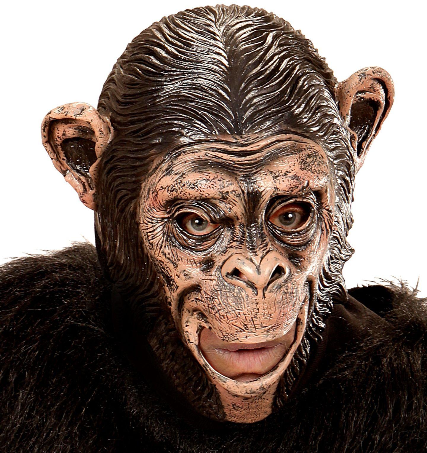 Chimpanseeskop masker kind