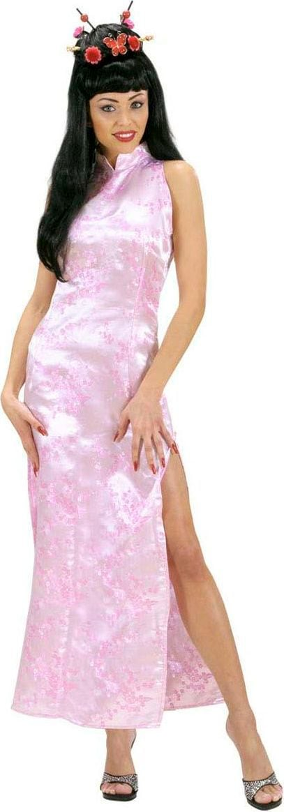 Chinese jurk roze