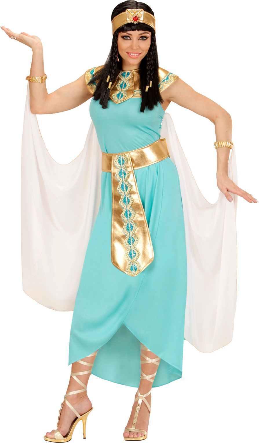 Cleopatra jurk blauw