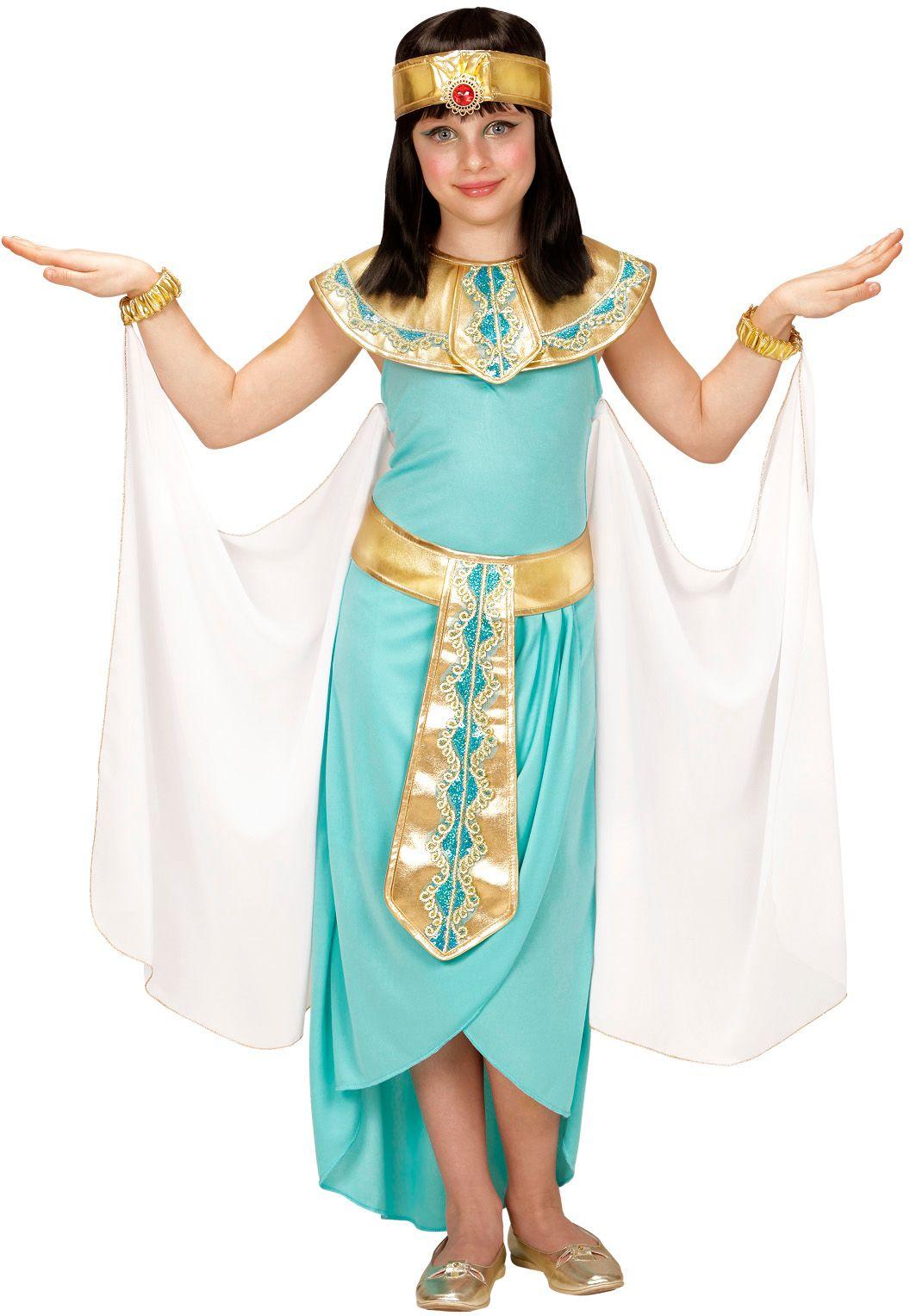 Cleopatra jurk blauw kind