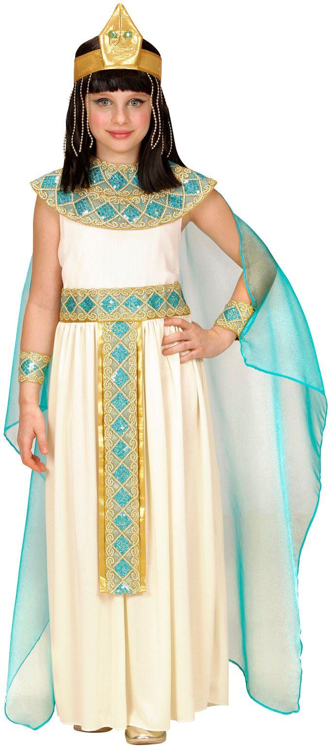 Cleopatra jurk wit kind