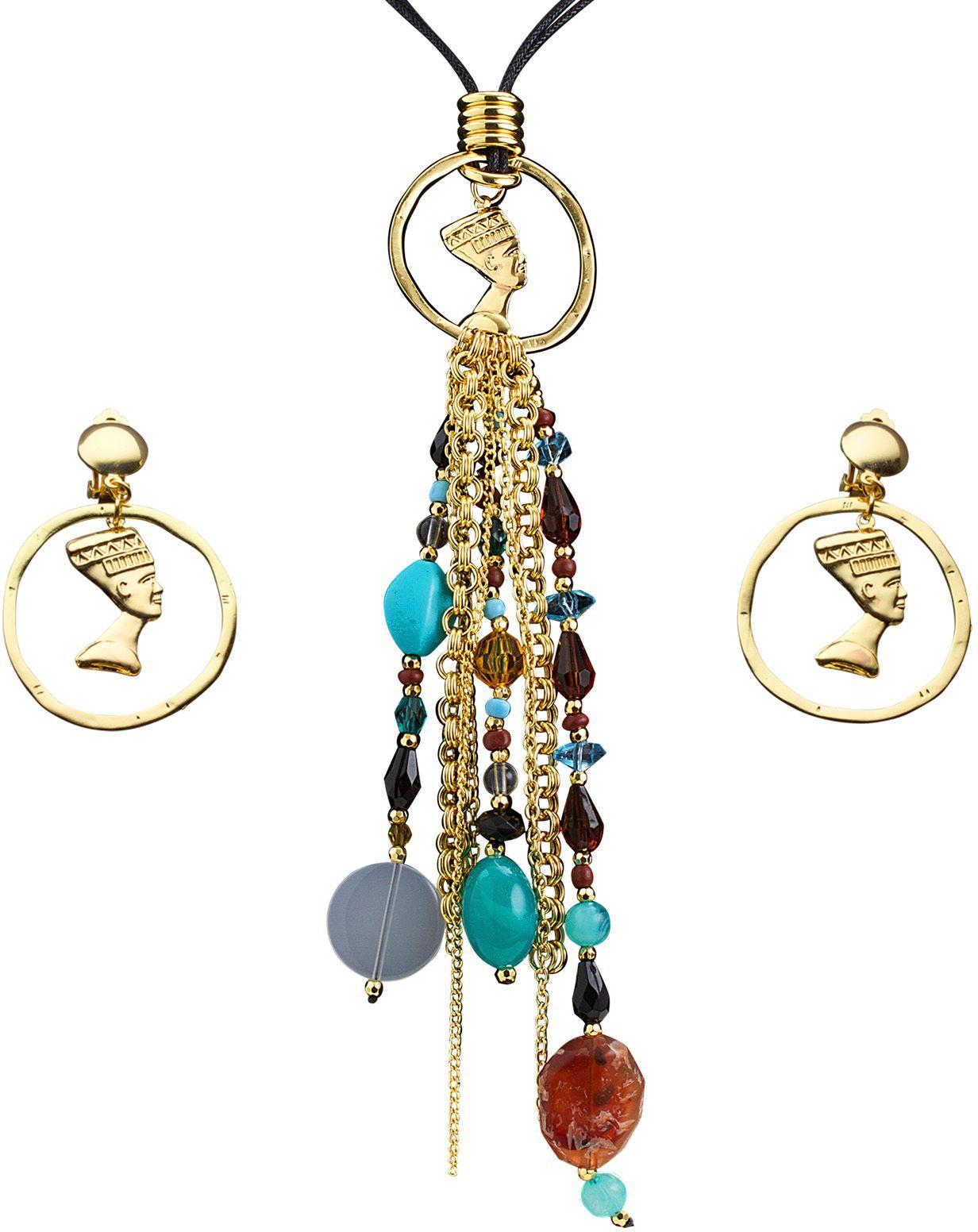 Cleopatra ketting met oorbellen
