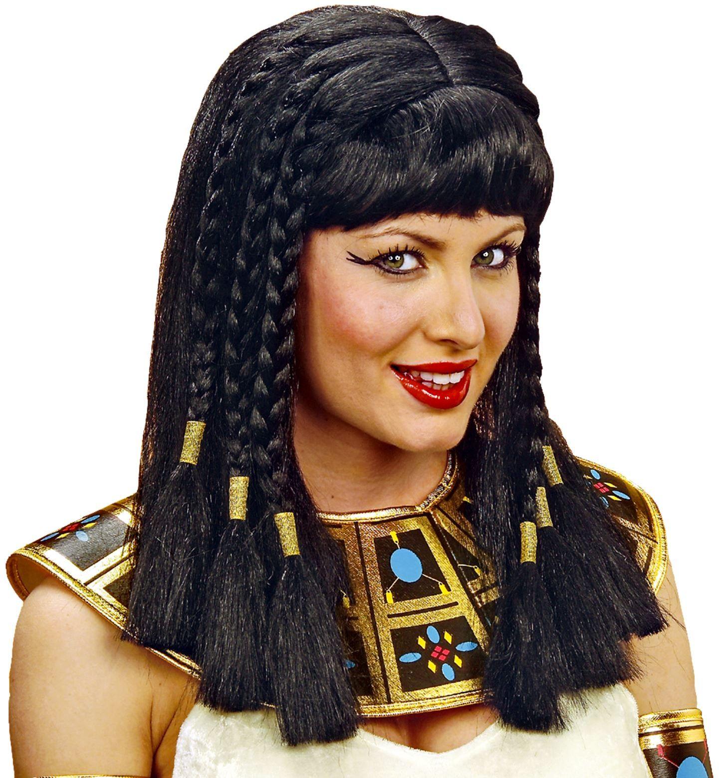 Cleopatra pruik zwart