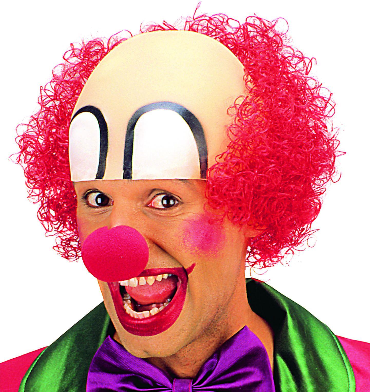 Clown hoofddeksel met rood haar