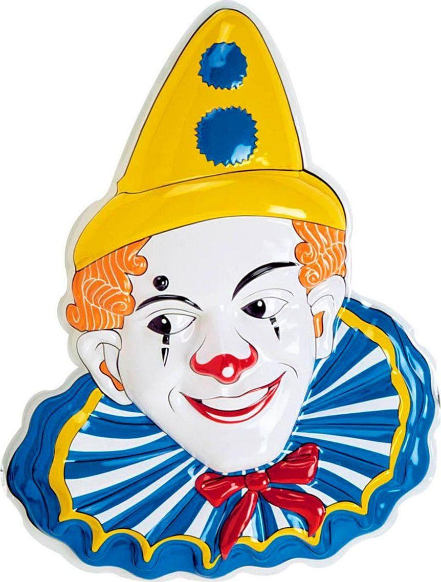 Clown masker decoratie