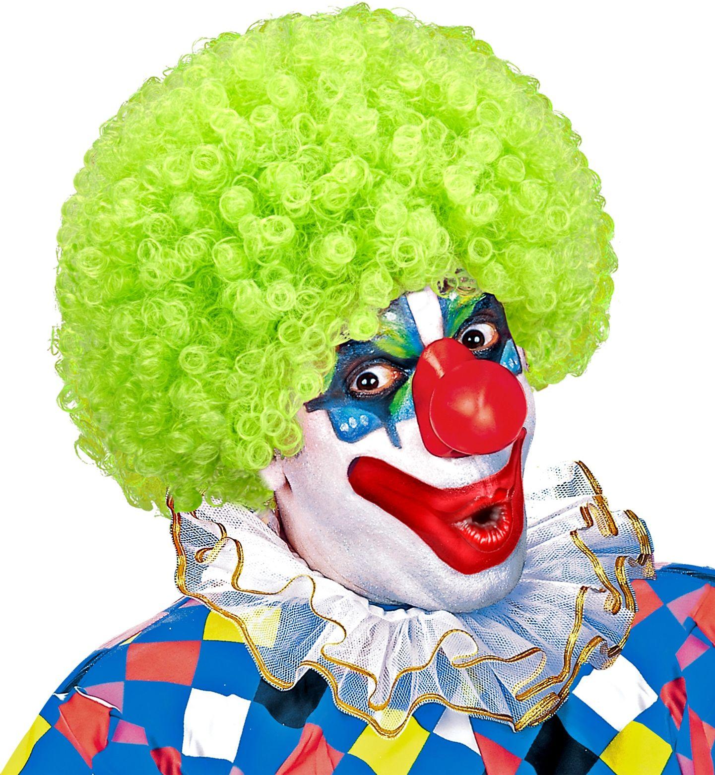 Clown pruik groen