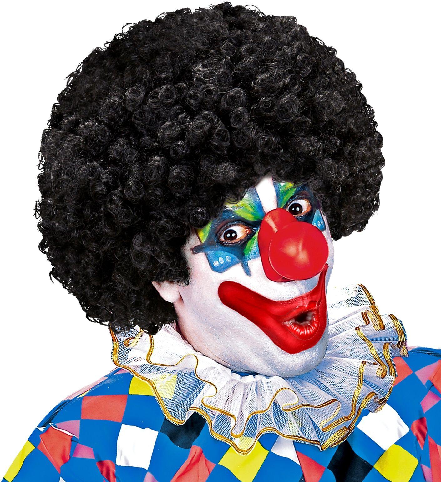 Clown pruik zwart