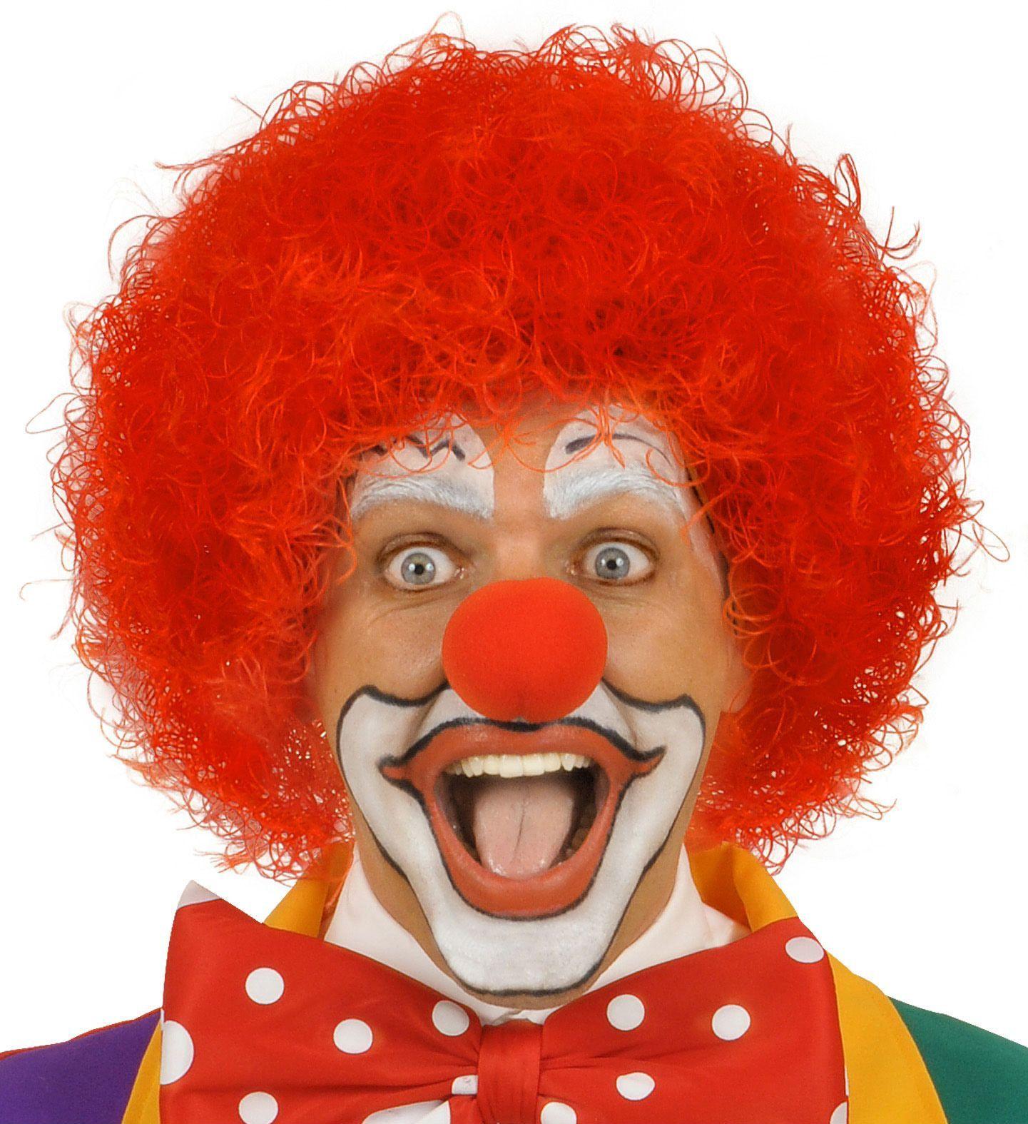 Clowns pruik rood