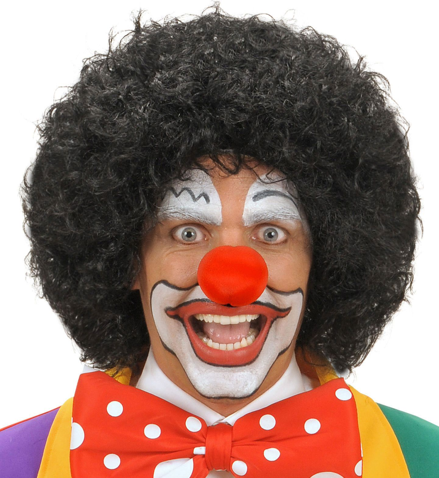 Clowns pruik zwart