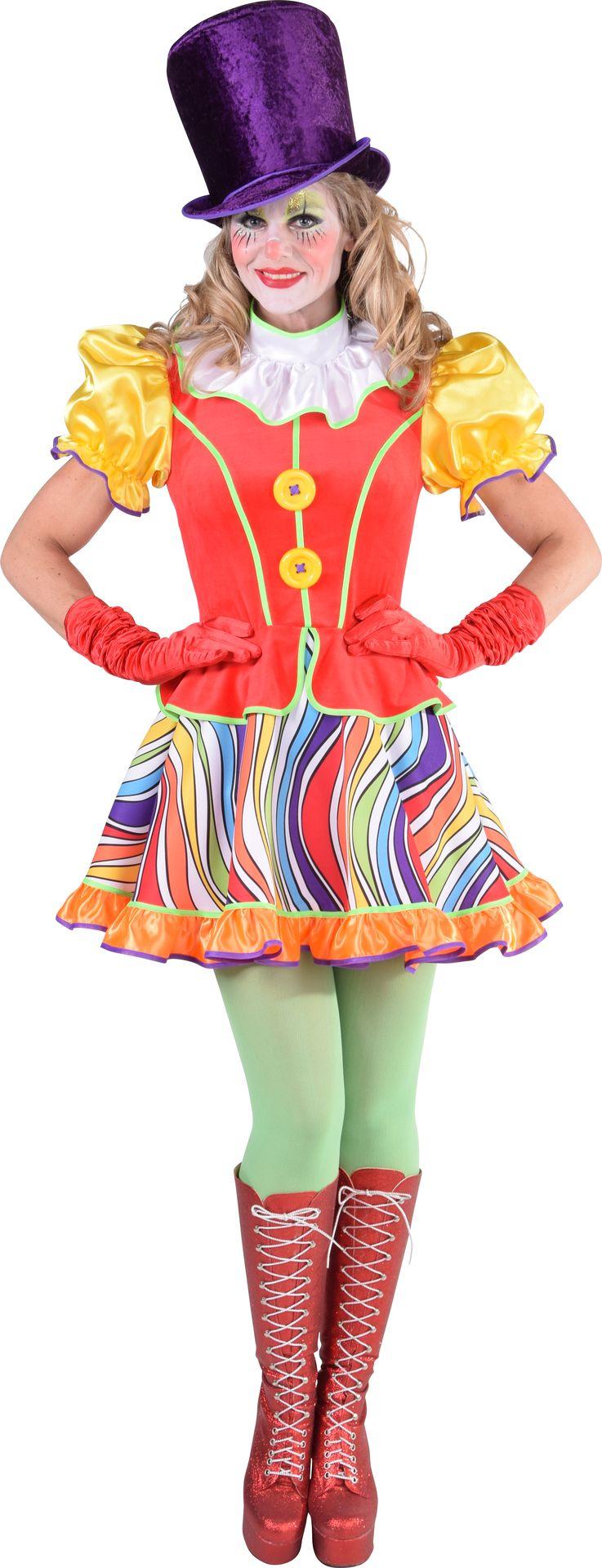 Clownsjurk regenboog vrouwen