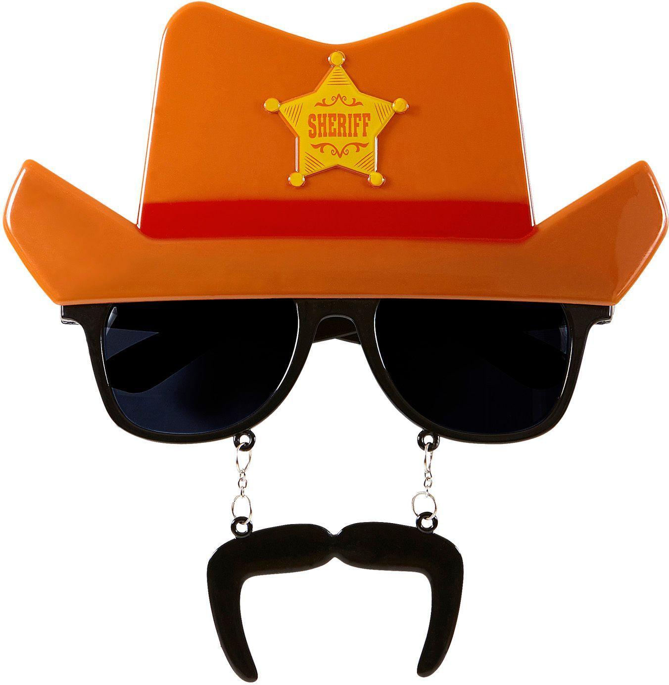 Cowboy gril met snor