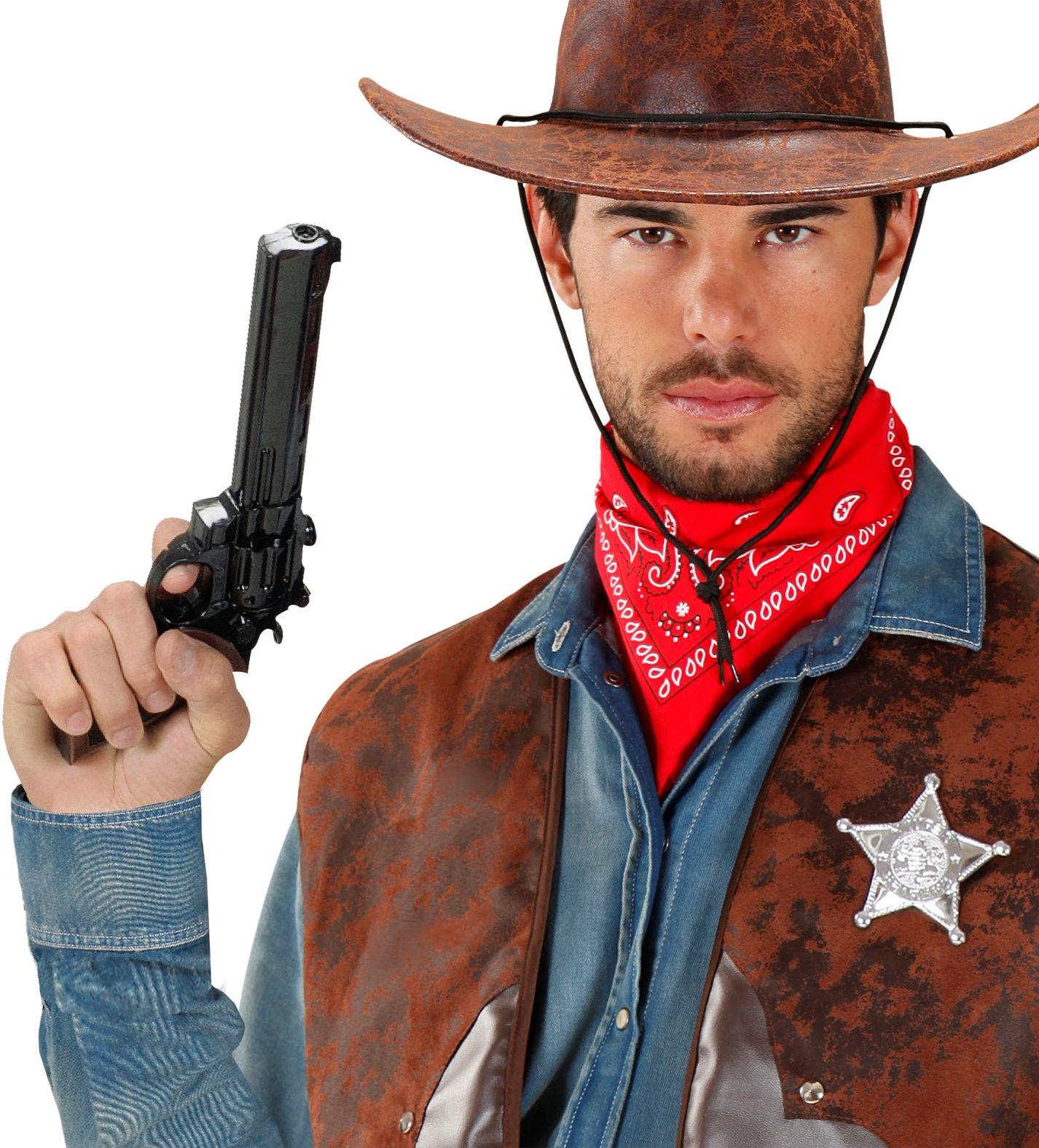 Cowboy revolver zwart