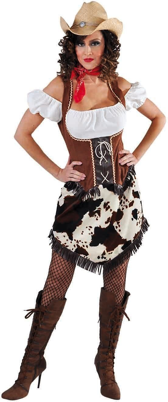 Cowgirl carnavalsjurk vrouwen