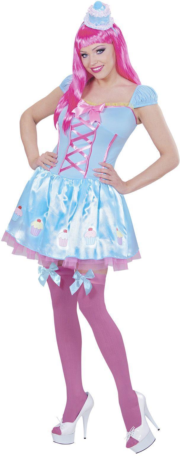 Cupcake kostuum blauw