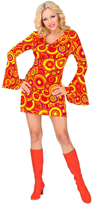 Dames 70s jurk oranje