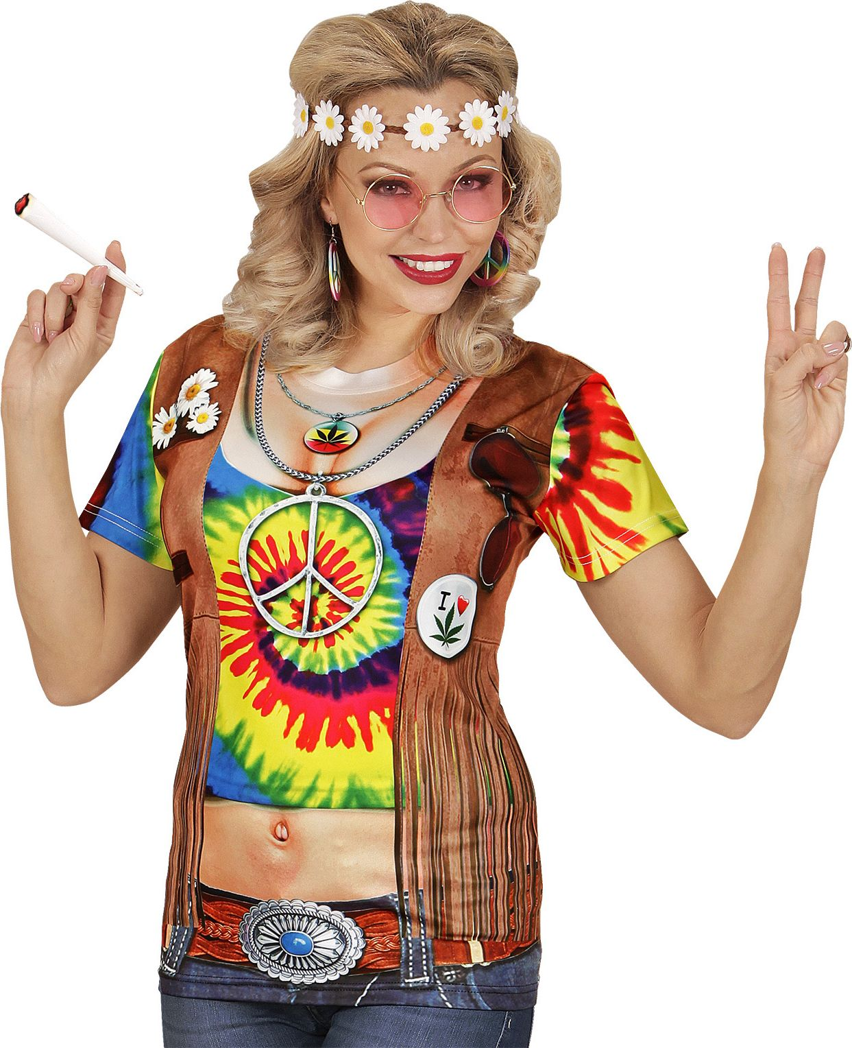 Dames hippie shirt