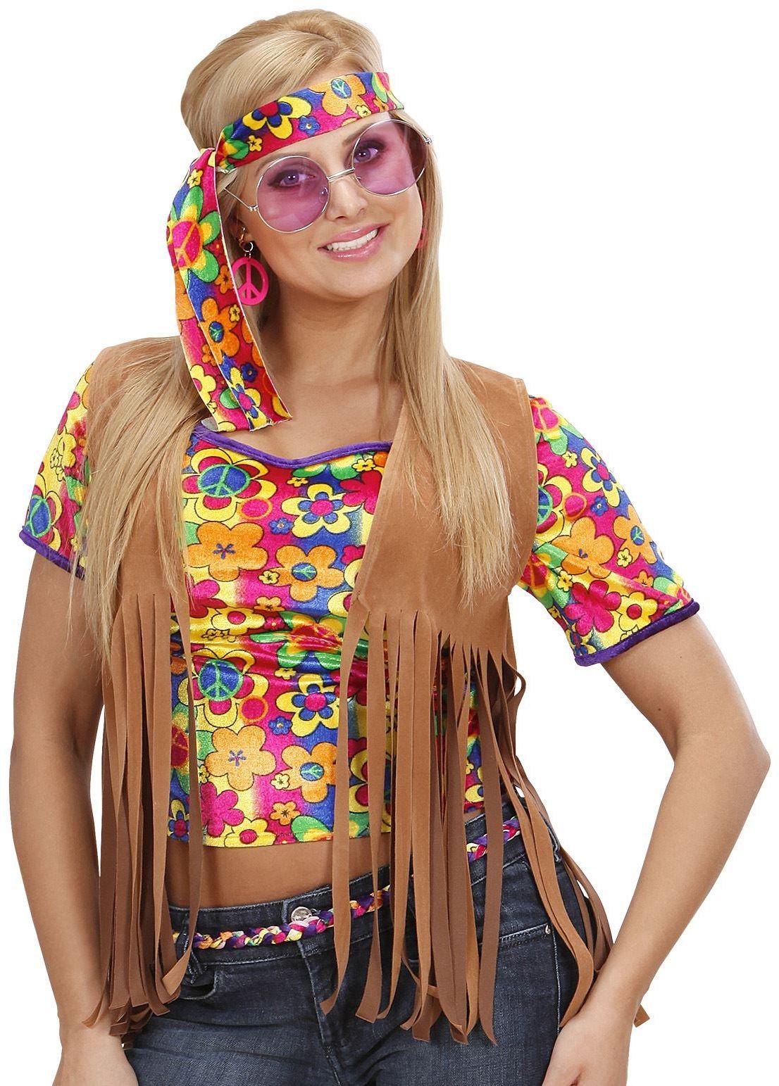 Dames hippie vest met hoofdband
