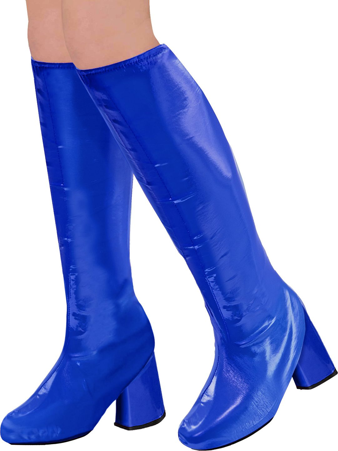 Disco 70s laarzen blauw dames