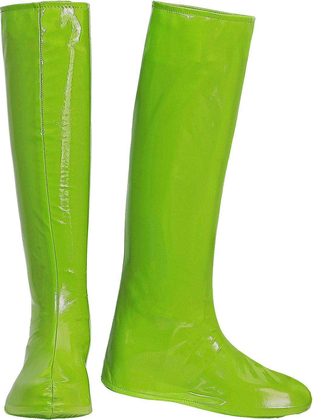 Disco 70s laarzen groen dames