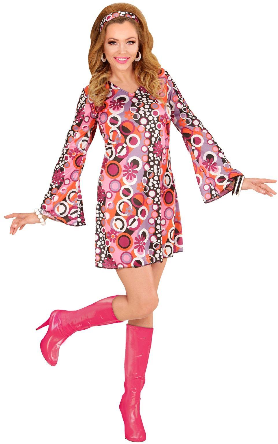 Disco 70s laarzen roze dames