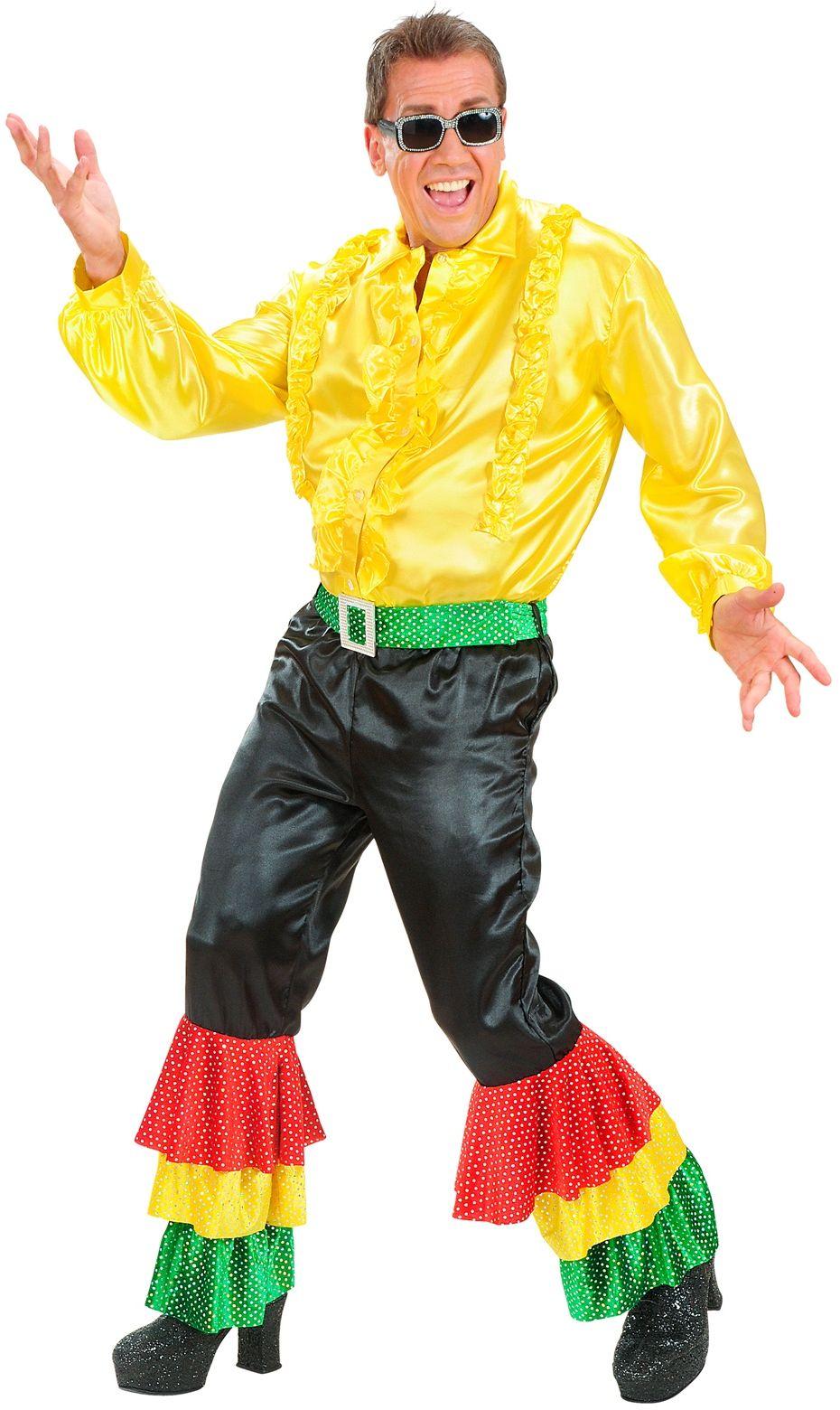 Disco broek met gekleurde pailletten