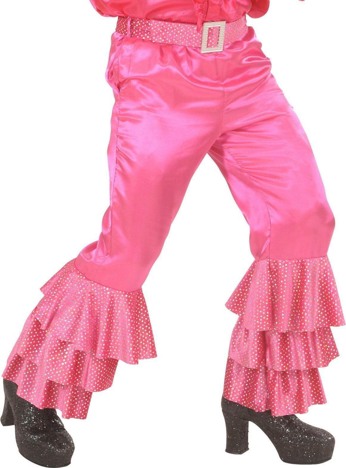 Disco broek met pailletten roze