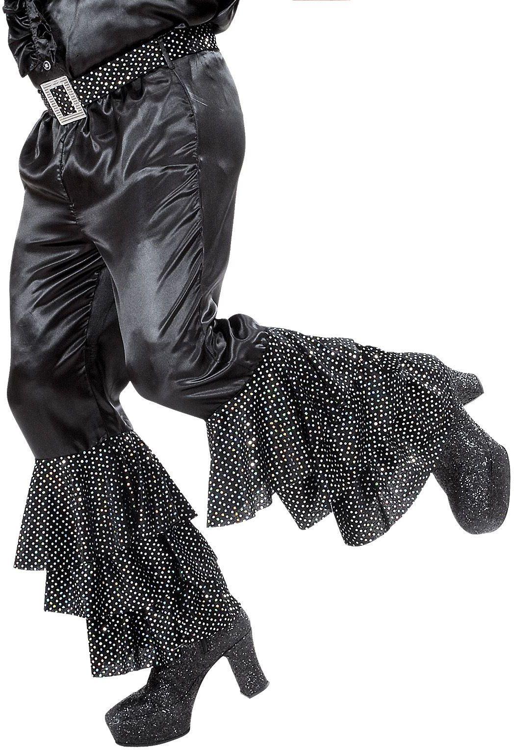 Disco broek met pailletten zwart