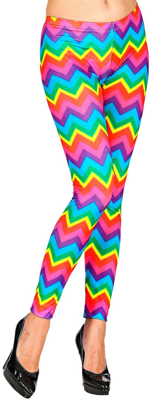 Disco broek regenboog