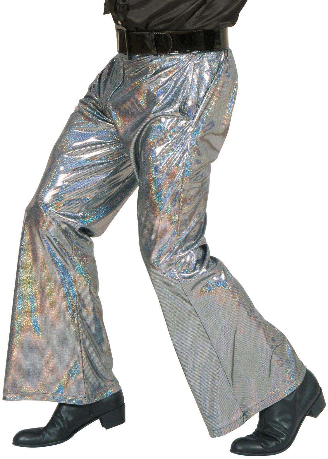 Disco broek zilver