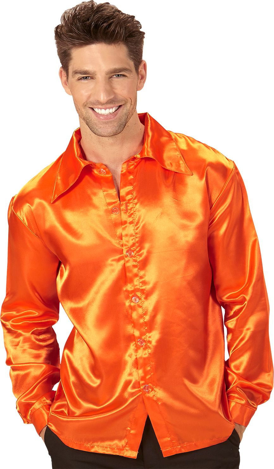 Disco jaren 70 shirt oranje