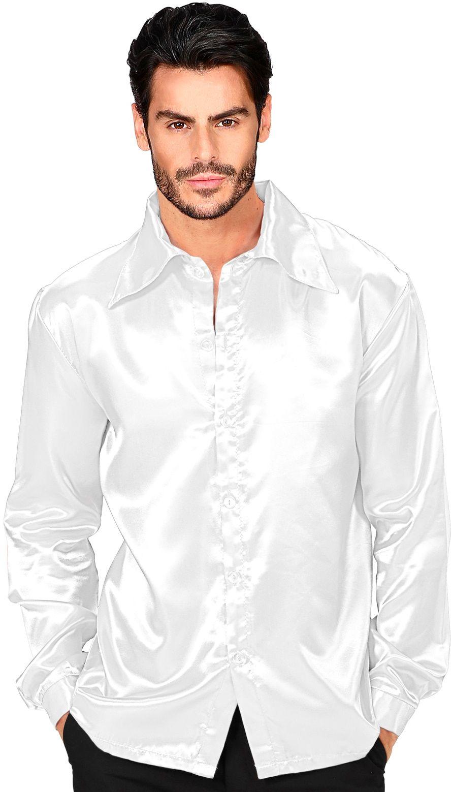 Disco jaren 70 shirt wit