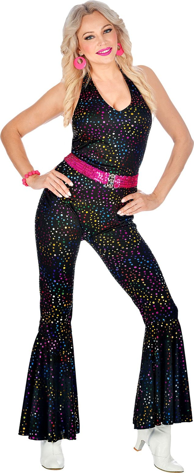 Disco jumpsuit glitter