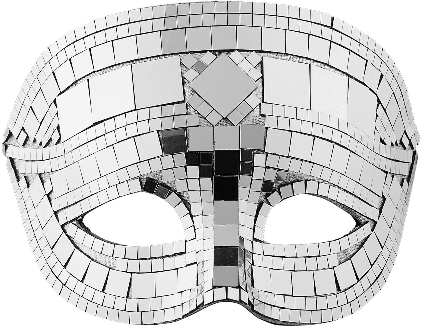 Disco masker zilver