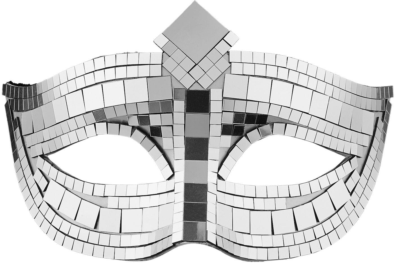 Disco oogmasker zilver